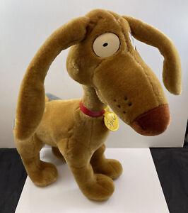 "Rugrats 1997 Spike Dog Plush Toy Nickelodeon 14"" RARE NWT"