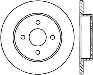 Disc Brake Rotor-Sport Drilled/Slotted Disc Rear Left Stoptech 127.62037L