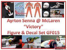 1:20 Ayrton Senna @ McLaren victoria resina figura del conductor con calcomanías 015 Asmc
