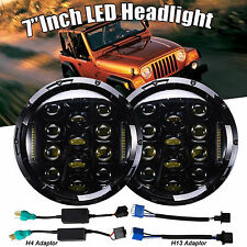 "2x 7""Inch 150W LED Headlight DRL H4 H13 Hi/Lo Beam for Jeep Wrangler JK TJ 97-17"
