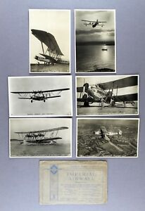 IMPERIAL AIRWAYS TUCKS POSTCARDS SET OF 6 CARDS WITH ENVELOPE RPPC FLYING BOATS