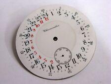Cadran 24h en émail neuf de stock NOS antique pocket watch dial Taschenuhr Reloj