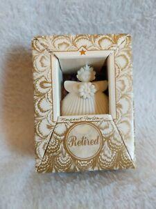"Margaret Furlong 1996 Miniature Daisy Angel 2"" Seashell Christmas NIB with Stand"