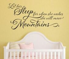 Let Her Sleep for When She Wakes She Will Move Mountains Vinyl Wall Decal by Rem