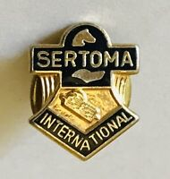 Sertoma International Service Clubs Small Lapel Pin Badge Rare Vintage (G9)