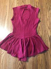 "Ice Figure Skating Dress Michellene  Dress Size 32"" Red"