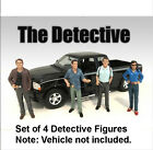 Brand new Set! American Diorama Set of 4 Detective Figures 1/18 Scale