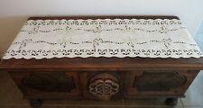 Christmas Fireplace Mantle Scarf Tablerunner Embroidered Candles & Lace