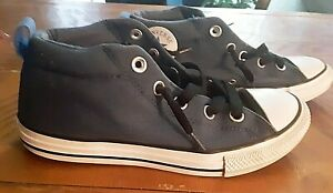 Converse Chuck Taylor All Star Sneakers Sz 4 Big Boys Shoes Blue 661885F LowTops