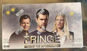 Fringe season 1 and 2 trading card sealed box from Cryptozoic 2012