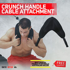 Crunch Handle Cable Attachment ABS Harness Double Black Padded Fitness