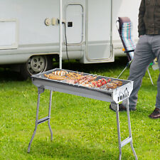 """Outsunny 29"""" Charcoal BBQ Grill Portable Stainless Steel"""