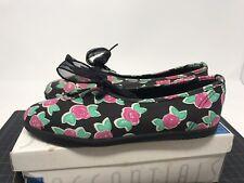 Vintage Keds Essentials Hayley Floral Black Rose Shoes WF2713 Size 6