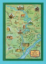 MAP  -  J.  SALMON  LTD.  POSTCARD  -  THE  WYE  VALLEY