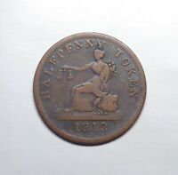 """1812"" (1832) Canada - Lower Canada J. Tiffin Halfpenny Token, LC-48A."