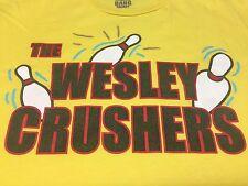 Wesley Crushers T-Shirt Big Bang Theory Will Wheaton Sheldon Bowling Alley Pins