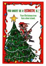 Jeff Foxworthy Might Be A Redneck DEER STAND Christmas Greeting Card W Envelope