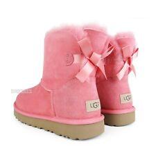 UGG Bailey Bow Mini II Lantana Suede Fur Boots Womens Size 9 *NIB*