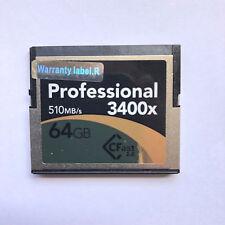 Lexar Pro 64 Go 3400x 510MB/s Classe 2-Carte 2.0 pas 256 Go comme photo!