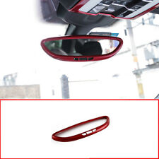 FOR Porsche Cayenne 2011-2017 Red car Interior Rearview Mirror cover Trim 1pc