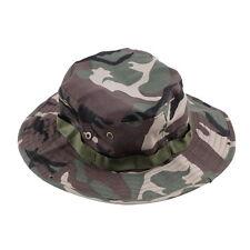 Fishing Hiking Boonie Snap Brim Military Bucket Sun Hat Cap Woodland Camo GA GA