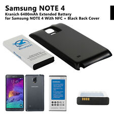 Kranich 6400mAh Extended Battery With NFC Back Cover For Samsung Galaxy Note 4
