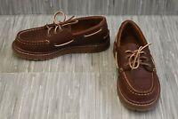 **Sperry AO Twisted Lug STK261694 Boat Shoe, Little Boy's Size, 2.5M, Dark Brown