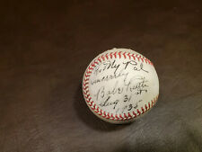 Babe Ruth Retirement Autographed Baseball Reprint To My Paypal Sincerely
