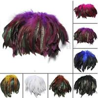 100pcs Beautiful Rooster Pheasant Tail Feathers Long Costume Decoration 5-7""