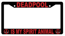 Black Deadpool Is My Spirit Animal License Plate Frame Auto Accessory