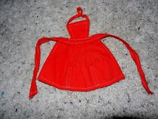 1960'S VINTAGE ORIGINAL BARBIE RED APRON