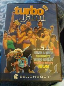 Beachbody TurboJam 5 Rockin Workouts 2 DVD Set 2006 Health Fitness Cardio Sculpt