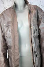 TRIUMPH DOLBEN JACKET mlhs 14102-l, giacca moto, giacca di pelle-, Brown, Taglia L