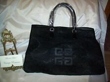 "GIVENCHY Women's Black Lace Tote Bag Hand Bag Purse NEW 17.5""w x 13.5""h Parfums"