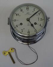 Ältere verchromte Uhr maritime Schatz Royal Mariner Clasenuhr mechanisch 8 Tage