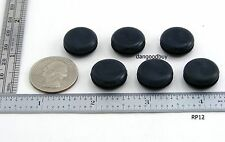 "6 Rubber Grommets Without Hole - Rubber Plug - Solid Grommet 1/2""  Diameter"