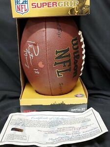 PEYTON MANNING SIGNED FULL SIZED WILSON NFL FOOTBALL with COA