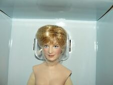 Franklin Mint Princess Diana Porcelain Nude Portrait Doll Queen Of Fashion