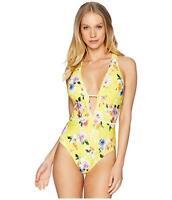 Nanette Lepore Lemon Monaco Bouquet Goddess One-Piece Swimsuit Size Large 16529