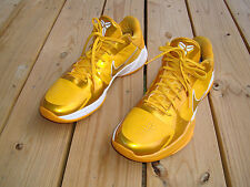 NIKE ZOOM KOBE V 5 MEN'S YELLOW GOLD 401052-991 BASKETBALL SHOES SIZE 12.5M