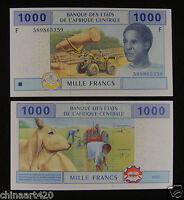ECCAS Equatorial Guinea Banknote (F) 1000 Francs 2002  UNC