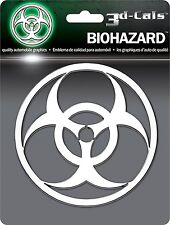 3D Chrome Bio-Hazard Self Adhesive Emblem 1 Badge/Decal Car Truck Motorcycle RV