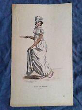 Gravure rehaussée Costume Théatre Toilette pour Frascati 1800