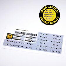 CUSTOM sticker for LEGO 10022 10025 Santa Fe Train, Premium quality