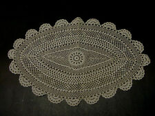 Hand Crochet PLACEMAT  12  x  18 Oval  Lot of 4 pcs