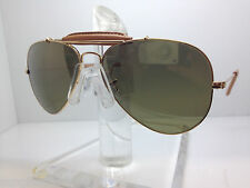 New Ray Ban Sunglasses RB3422Q 001/M9 3422Q LIGHT BROWN LEATHER MIRROR POLARIZED
