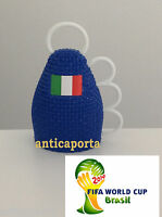Eight 8 Caxirola World Brazil 2014 Blue Italy Brasil Italy with pennant