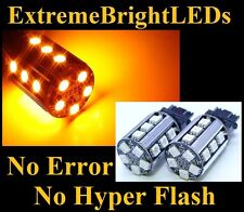TWO AMBER No Resistor Required 3157 3057 20-SMD LED Front turn Signal Lights