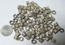 100 nomadic tribal silver handmade collar spacer beads 6 mm larp sca diy 49122