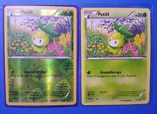 2x Petilil 7/122 (1 reverse holo) Pokemon card XY BREAKpoint common NM